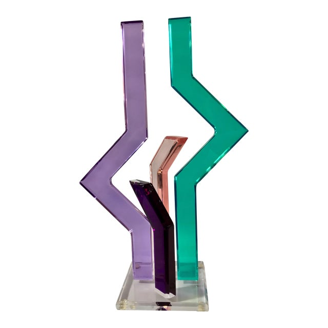 Signed Shlomi Abstract Art Sculpture For Sale