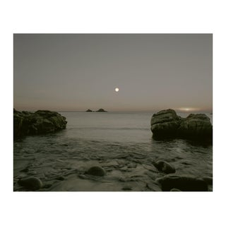 The Brisons, Full Moon/Sunset Photograph by Guy Sargent For Sale