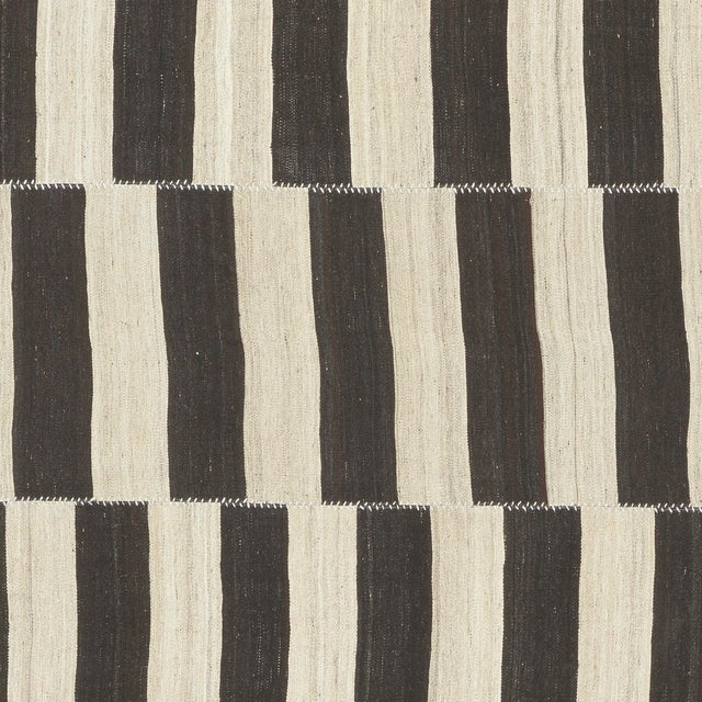 Mid-Century Modern Vintage Persian Kilim Composition Rug- 9′ × 11′ For Sale - Image 3 of 6