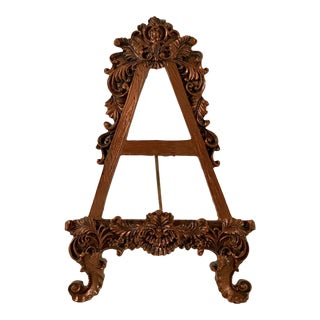 Vintage Hollywood Regency Decorative Table Easel For Sale