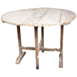 "Antique Distressed French ""Vendage"" Wine Harvest Table For Sale"