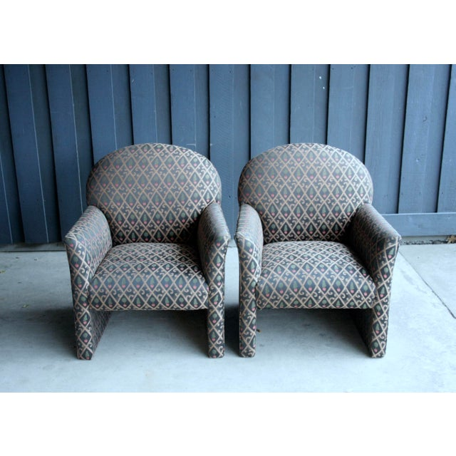 Green 1980s Contemporary Armchairs, Set of 4 For Sale - Image 8 of 13