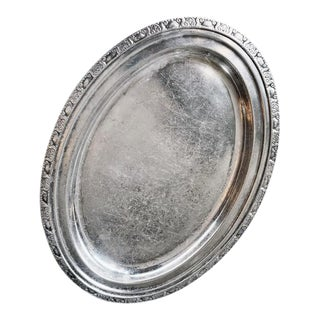 1950 Silver Plated Tray From the Waldorf-Astoria Hotel For Sale