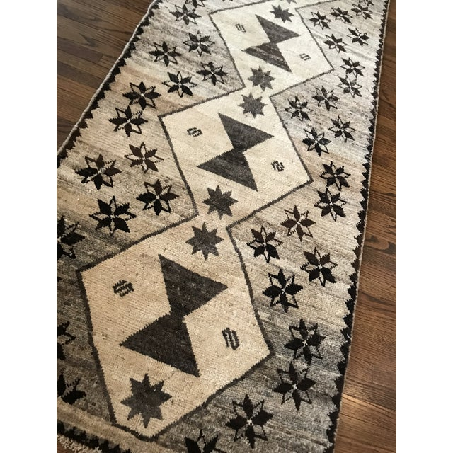 Islamic Cream, Brown + Gray Persian Rug For Sale - Image 3 of 7