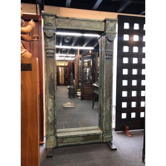 Antique Patina Wall Mirror For Sale - Image 9 of 9