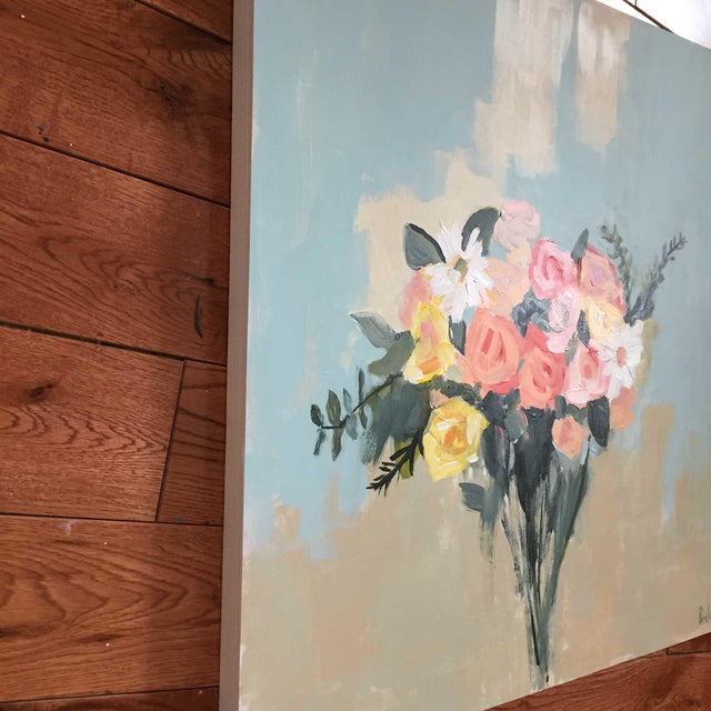 """May Bouquet Painting - 20"""" x 20"""" - Image 3 of 3"""