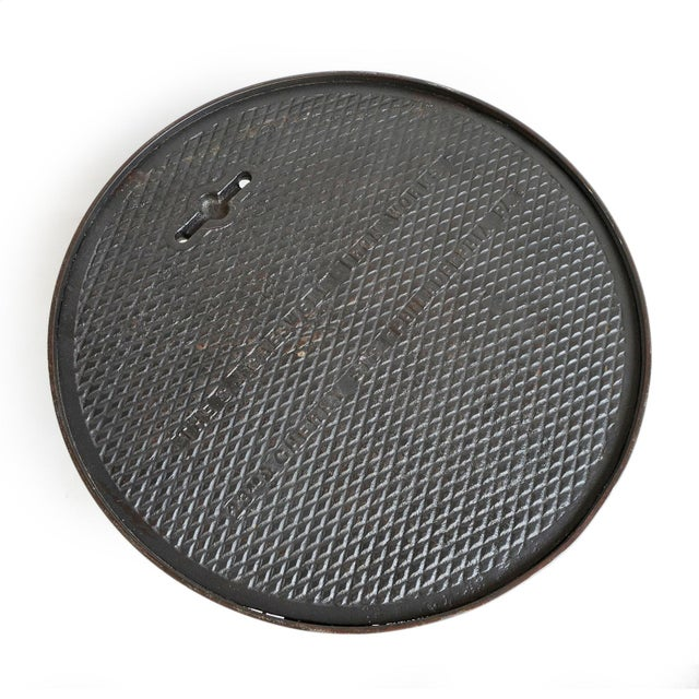 2010s Industrial Iron Manhole Table For Sale - Image 5 of 8
