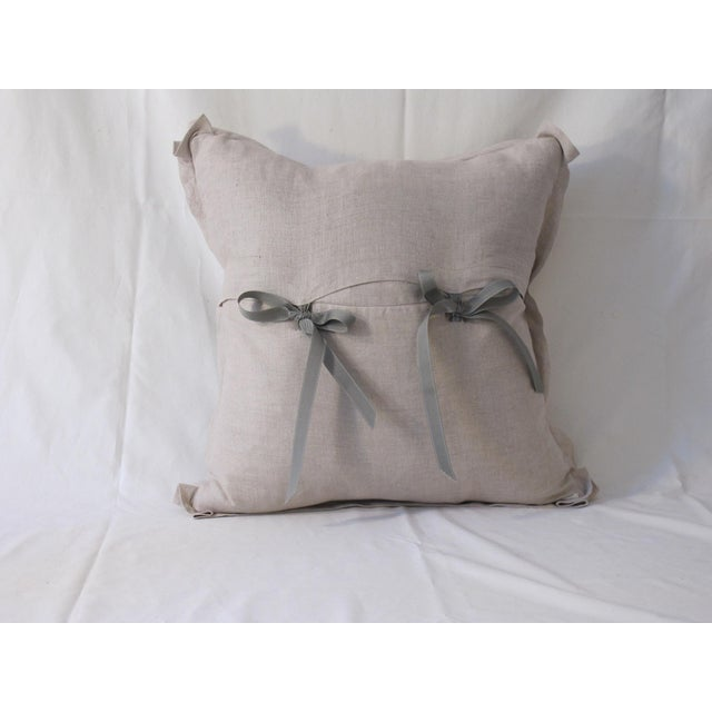 French Antique 1880s French Toile Pillow For Sale - Image 3 of 4