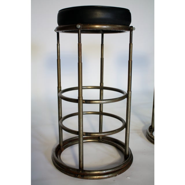Machine Age Industrial Bar Stools - A Pair - Image 6 of 6