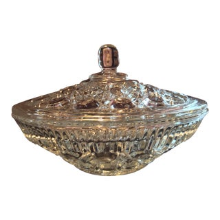 Federal Glass Company Crystal Candy Dish For Sale