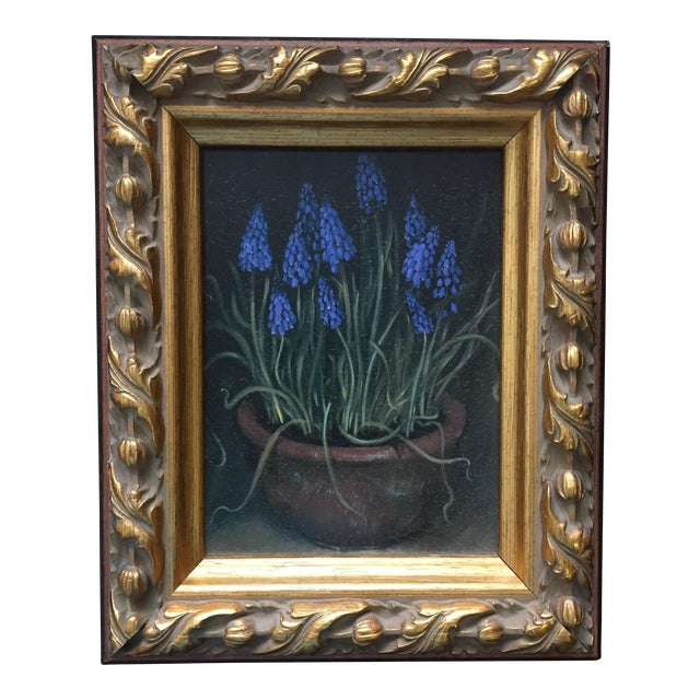 Framed Painting of Flowers in a Clay Pot - Image 1 of 5