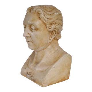 20th Century Figurative Life Size Female Figure Head Sculpture For Sale