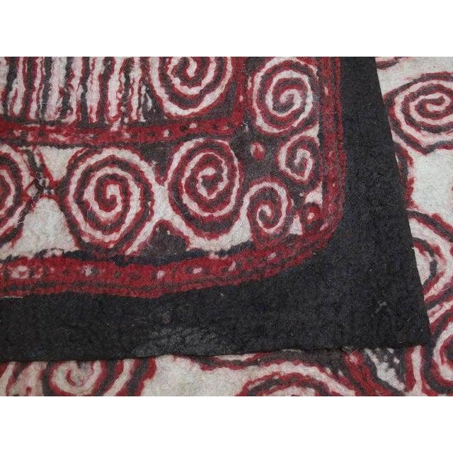 Central Asian Felt Carpet For Sale - Image 9 of 9