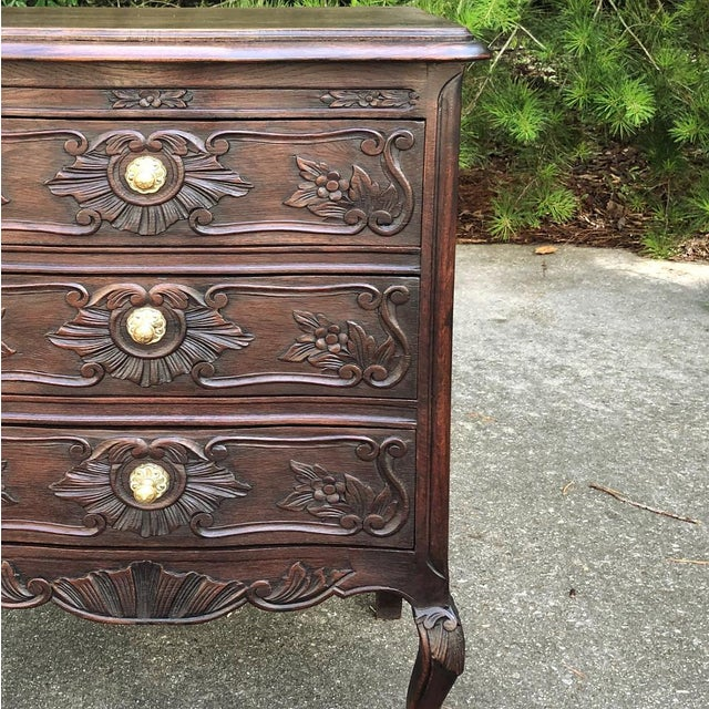 Antique Country French Louis XV Commode For Sale In Baton Rouge - Image 6 of 11