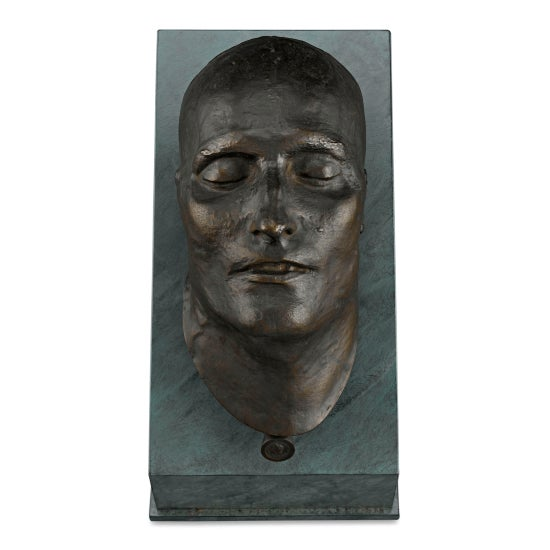Gray Bronze Death Mask of Napoleon i For Sale - Image 8 of 8