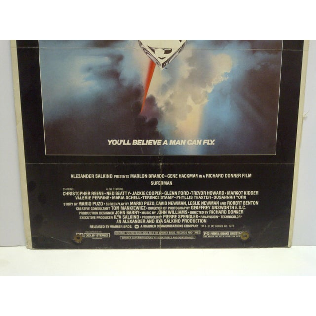 """""""Superman"""" Mounted Movie Poster For Sale - Image 4 of 6"""