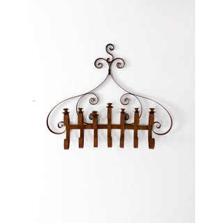 Antique Wiought Iron Wall Candle Holder Preview