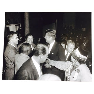 Original Charles Harris JFK Supporters Photograph For Sale