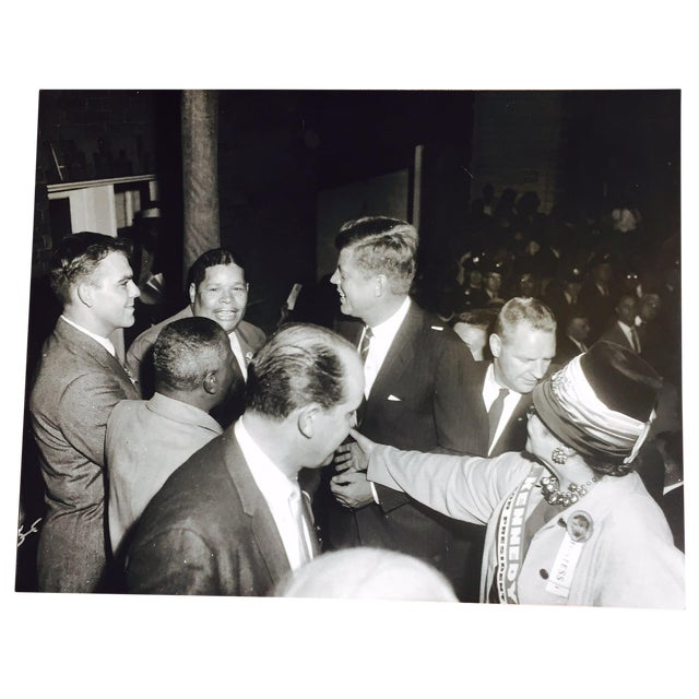 Original Charles Harris JFK Supporters Photograph - Image 1 of 7