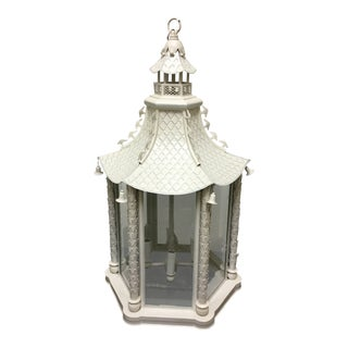 White Aluminum Hanging Lantern