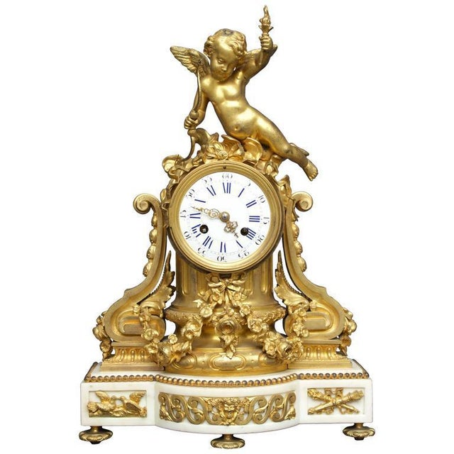 Early 19th Century Antique French Louis XVI Style Figural Clock For Sale - Image 11 of 11