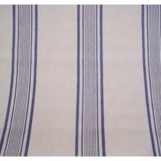 Transitional Ralph Lauren Giverny Ticking Fabric For Sale