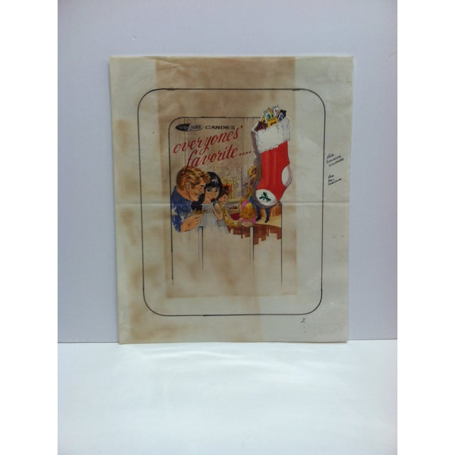 "1980s 1980s ""M&m / Mars Candies - Everyone's Favorite"" Displayco East Original Advertising Drawing For Sale - Image 5 of 5"