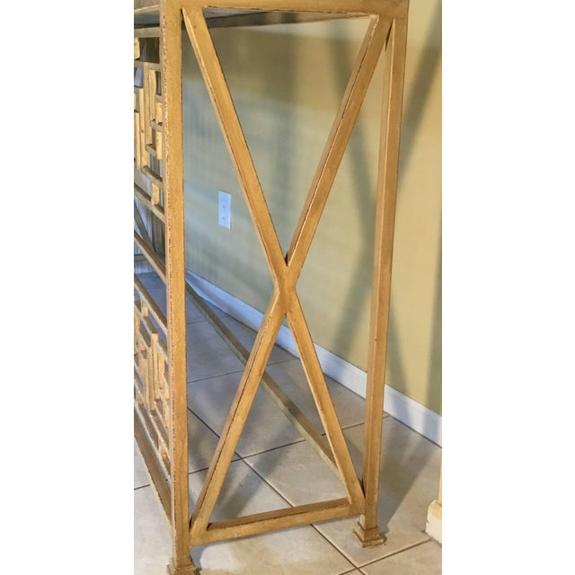 Neoclassical Iron Console For Sale In Miami - Image 6 of 11