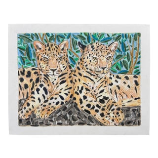 """Twin Leopards"" Drawing For Sale"