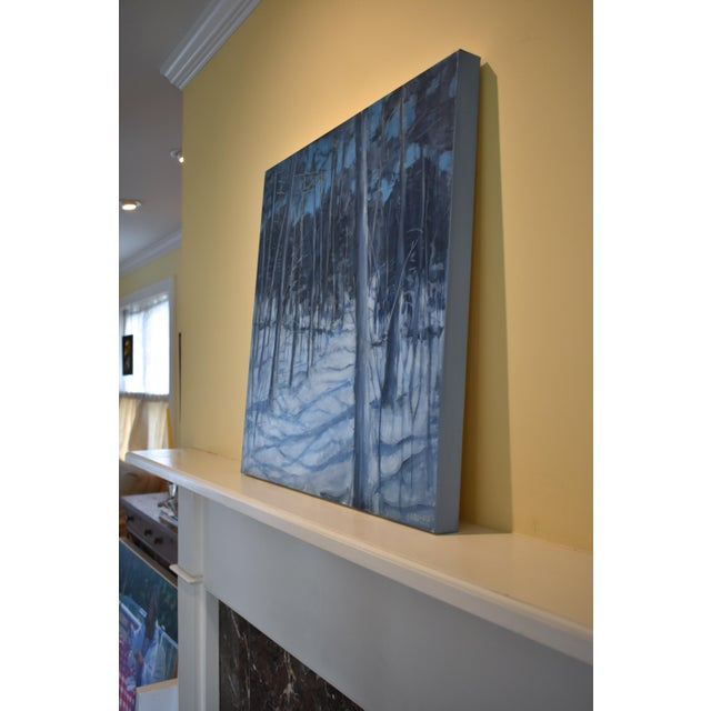 """Blue Stephen Remick """"Silent Moonlight"""" Contemporary Expressionist Landscape Painting For Sale - Image 8 of 9"""
