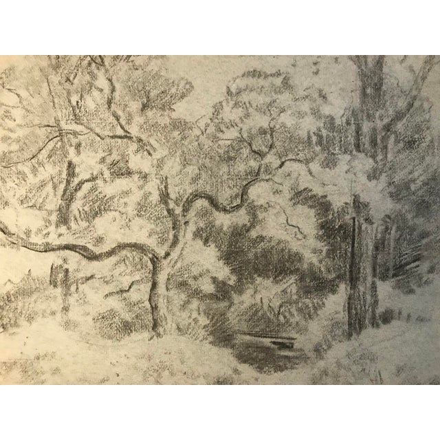 Eliot Clark Wooded Landscape Drawing For Sale In Charleston - Image 6 of 6