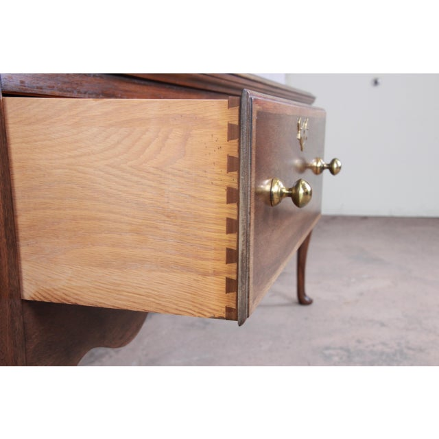 Henkel Harris Mahogany Queen Anne Sideboard Credenza For Sale - Image 10 of 13