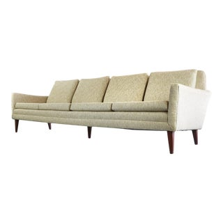 Folke Ohlsson for Dux Mid-Century Sofa in Original Fabric For Sale