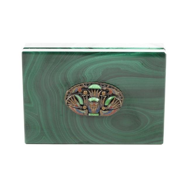 Malachite Box with Egyptian Emblem - Image 2 of 9