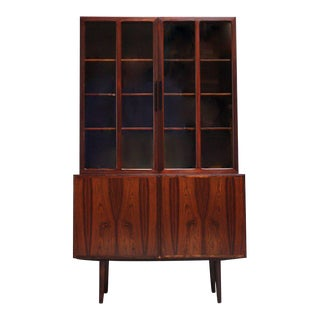 Danish Rosewood Two-Piece Bookcase by Gunni Omann