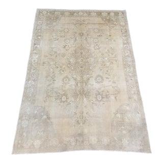 Vintage Turkish Oushak Wool Rug - 6′2″ × 8′11″ For Sale
