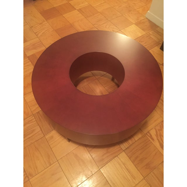 Red Round Coffee Table - Image 2 of 10