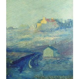 Tonalist Landscape in Blue Painting