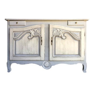 19th Century French Provincial Carved and Painted Sideboard For Sale