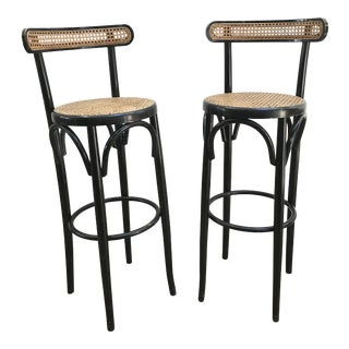 Thonet Style Bentwood Bar Stools For Sale