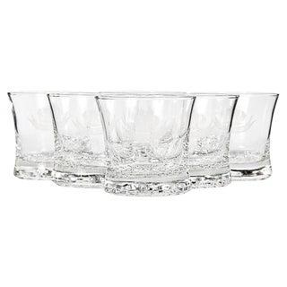 """Good Health"" Glass Highball Tumblers - Set of 6"