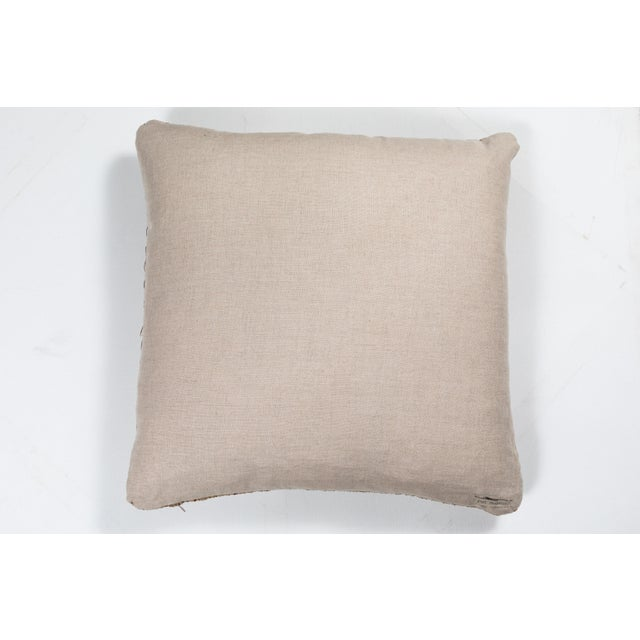 Late 20th Century Vintage African Ashante Textile Pillow For Sale - Image 5 of 7