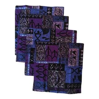 Vintage Batik Dinner Napkins, Set of 4 For Sale