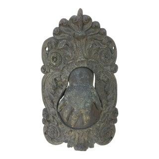 Victorian Macabre Metal Hand Door Knocker For Sale