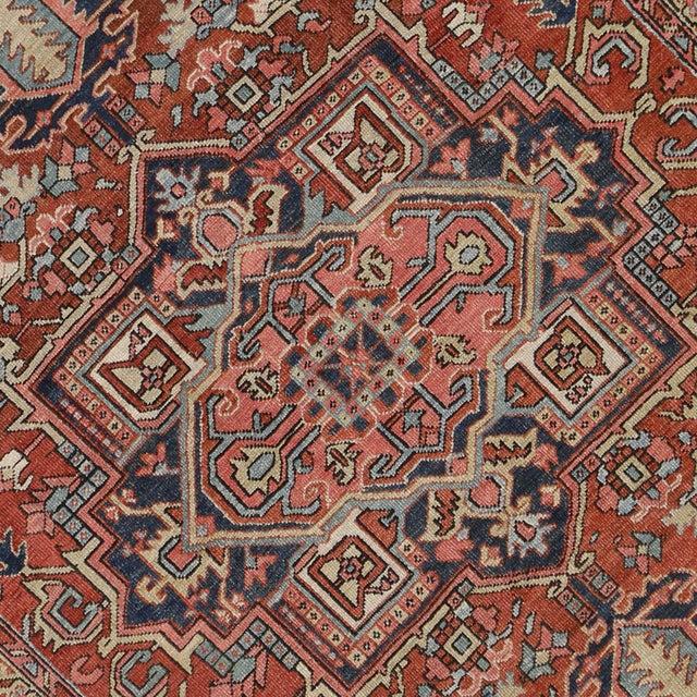 """Antique Persian Heriz Rug - 8' x 10'1"""" - Image 4 of 7"""