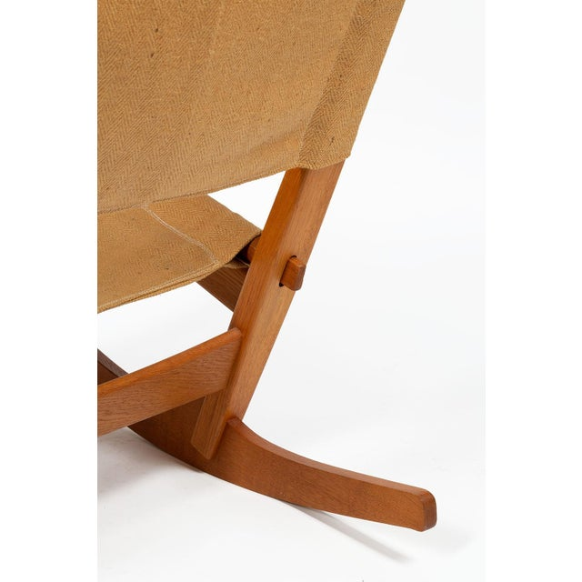Keyhole Rocking Chair by Hans Wegner For Sale - Image 9 of 13