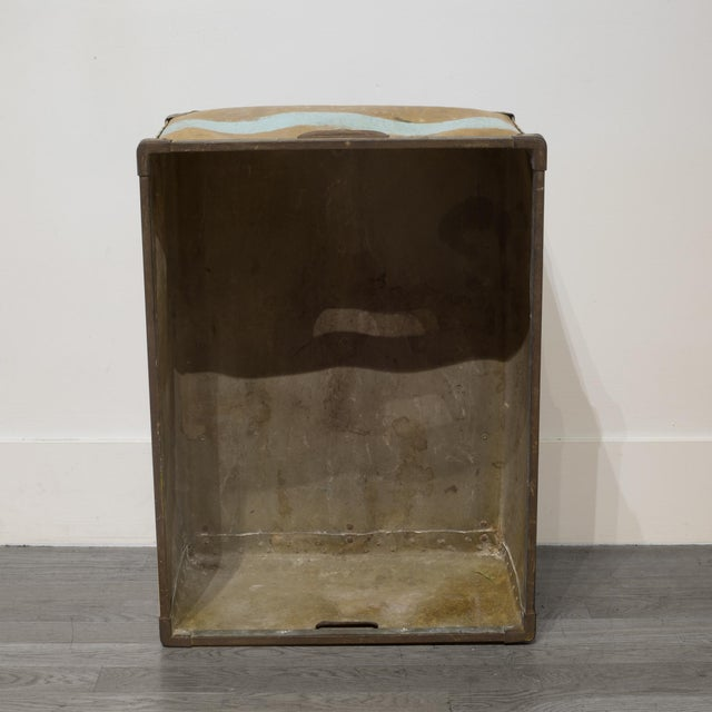 Canvas Large Vulcanized Canvas Factory Bin C.1948 For Sale - Image 7 of 8