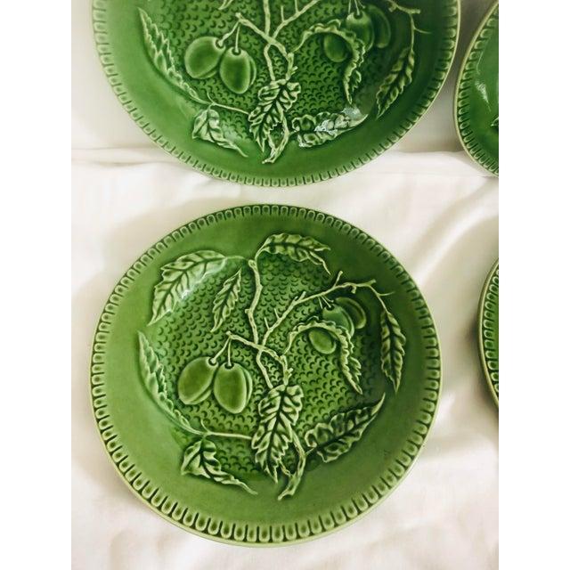Bordallo Pinherio Fruit Pattern Salad Plates - Set of 4 For Sale - Image 6 of 8