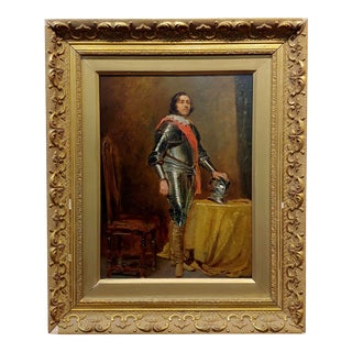 James Digman Wingfield Portrait of the Black Prince Wearing His Armor -Oil Painting For Sale