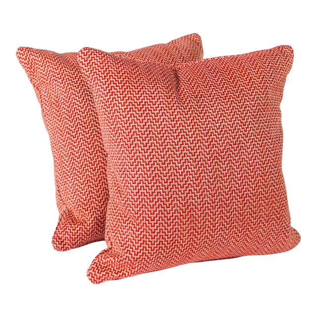 """22"""" Schumacher Orwell Pillows, Pair For Sale"""